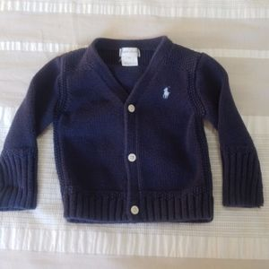 Ralph Lauren Navy Knit Cardigan Sweater
